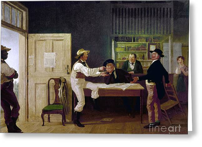 Clooney Greeting Cards - American Politicians, 1844 Greeting Card by Granger