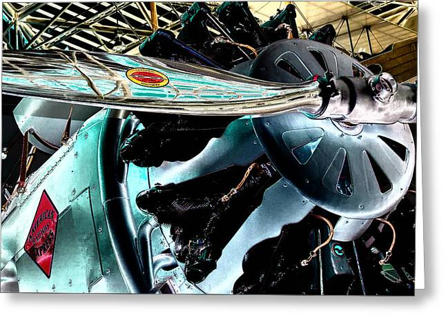 Old Aircraft Greeting Cards - American Railway Express Boeing Model 40-B Greeting Card by David Patterson