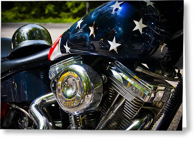 Cruiser Greeting Cards - American Ride Greeting Card by Adam Romanowicz