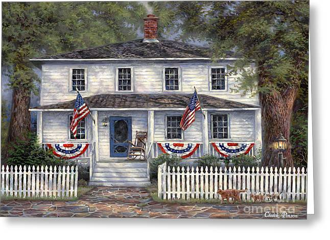 American Roots Greeting Card by Chuck Pinson
