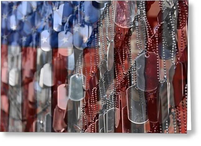 American Sacrifice Greeting Card by DJ Florek
