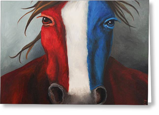 American Spirit Greeting Card by Leah Saulnier The Painting Maniac