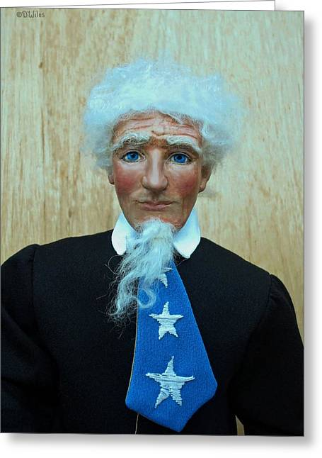 Patriot Sculptures Greeting Cards - American Spirit - Uncle Sam 3 Greeting Card by David Wiles