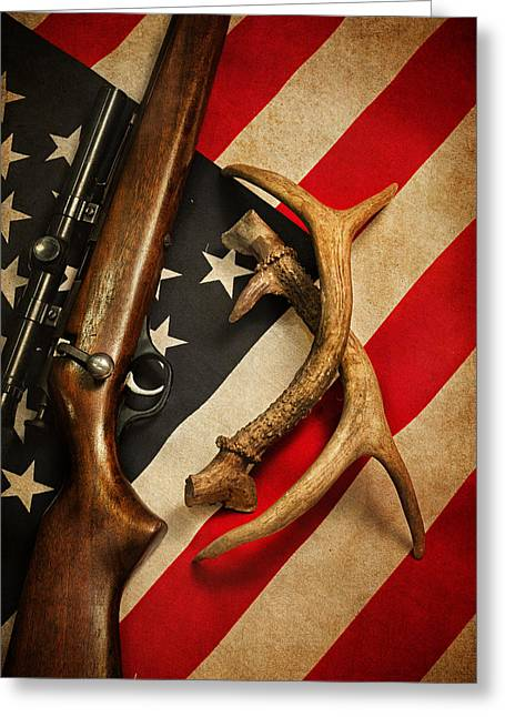 Hunter Greeting Cards - American Sportsman Portrait Greeting Card by Bill  Wakeley