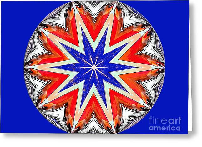American Star Greeting Card by Annette Allman