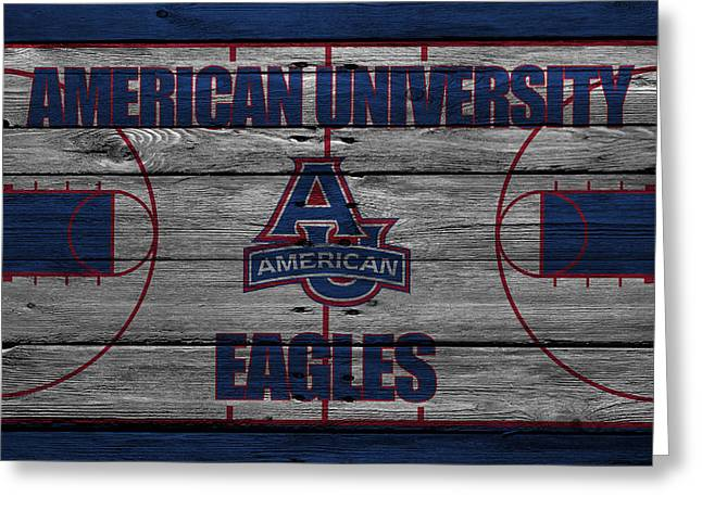 Division Greeting Cards - American University Eagles Greeting Card by Joe Hamilton