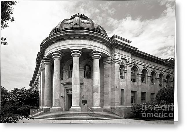Birthday Gift Ideas Greeting Cards - American University Mc Kinley Building Greeting Card by University Icons