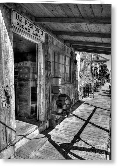 Postal Greeting Cards - American Wild West 2 BW Greeting Card by Mel Steinhauer