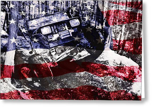 Jeeps Greeting Cards - American Wrangler Greeting Card by Luke Moore