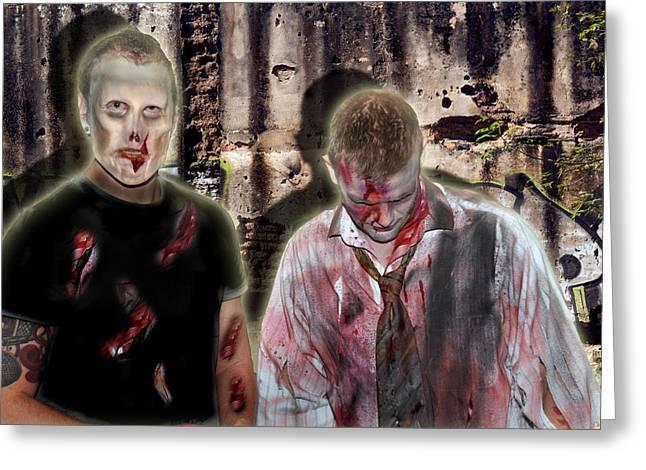 American Zombies Greeting Card by Gary Keesler