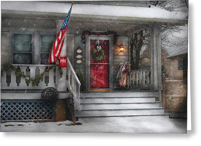 Americana - A Tribute to Rockwell - Westfield NJ Greeting Card by Mike Savad