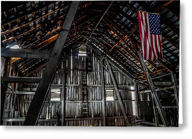 Hayloft Greeting Cards - Americana Greeting Card by Brian Stevens