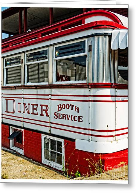 Americana Classic Dinner Booth Service Greeting Card by Edward Fielding