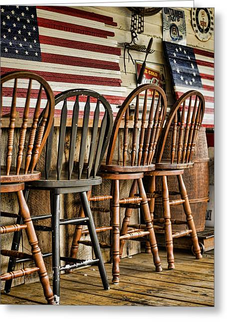 Historic Country Store Photographs Greeting Cards - Americana Greeting Card by Heather Applegate