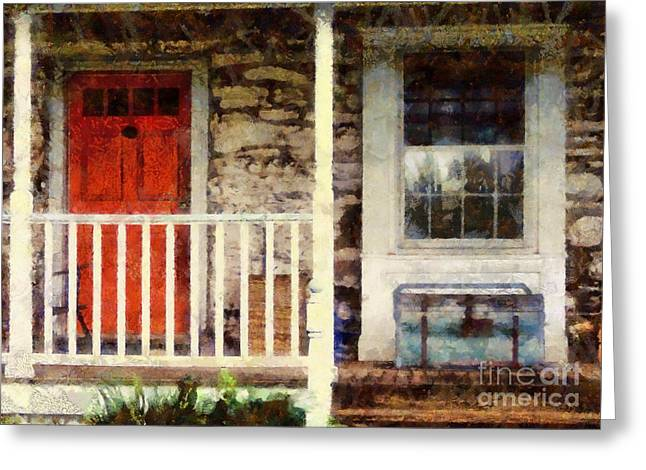 Americana Greeting Card by Janine Riley