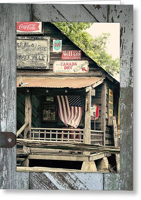 Tin Roof Greeting Cards - Americana Greeting Card by Linda Olsen
