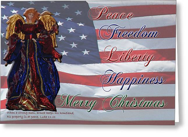 Americana Military Christmas 1 Greeting Card by Robyn Stacey