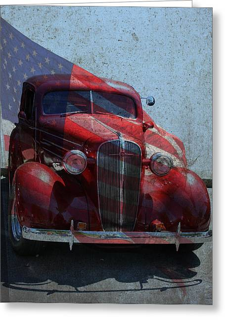 Chevy Greeting Cards - Americana Nbr 1 Greeting Card by Lesa Fine