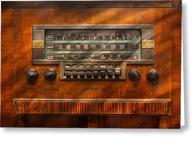 Oldies Greeting Cards - Americana - Radio - Remember what radio was like Greeting Card by Mike Savad