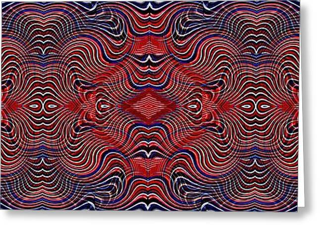 Americana Swirl Banner 2 Greeting Card by Sarah Loft