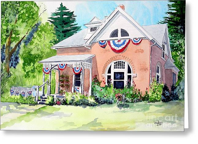 Americana Greeting Card by Tom Riggs