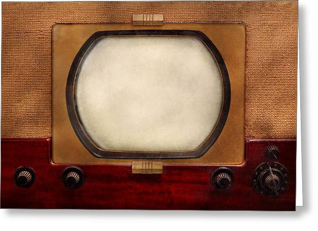 Old Tv Greeting Cards - Americana - TV - The boob tube Greeting Card by Mike Savad