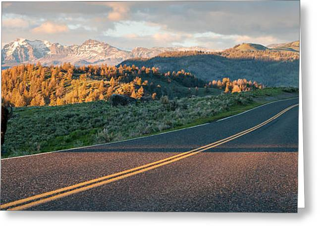 Scenic Drive Greeting Cards - Americas Best Idea Greeting Card by Zack Clothier