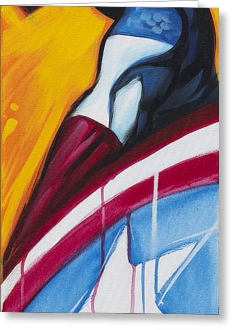 Captain America Paintings Greeting Cards - Americas Captain Greeting Card by Hassan  Patterson