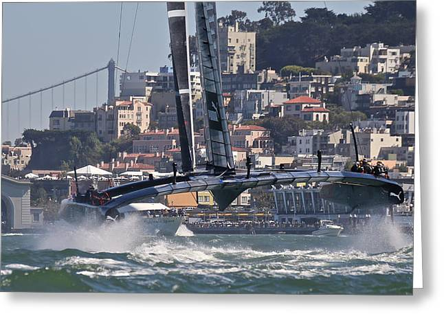 San Francisco Bay Greeting Cards - Americas Cup San Francisco Greeting Card by Steven Lapkin