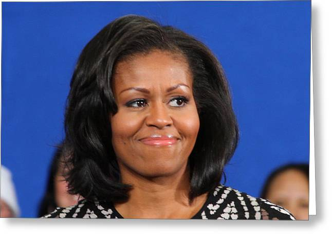 Michelle Obama Photographs Greeting Cards - Americas First Lady Greeting Card by Mike Stouffer