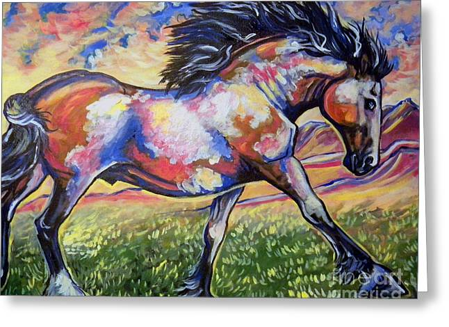 Jenn Cunningham Greeting Cards - Americas Horse Greeting Card by Jenn Cunningham