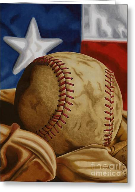 Baseball Memorabilia Greeting Cards - Americas Pastime 2 Greeting Card by Cory Still