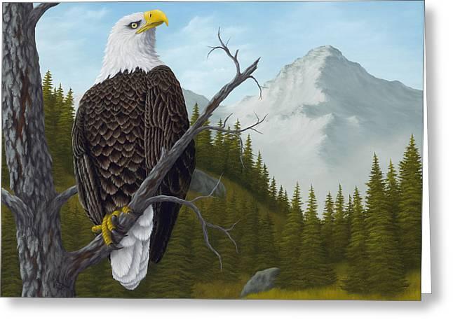 Eagle Greeting Cards - Americas Pride Greeting Card by Rick Bainbridge