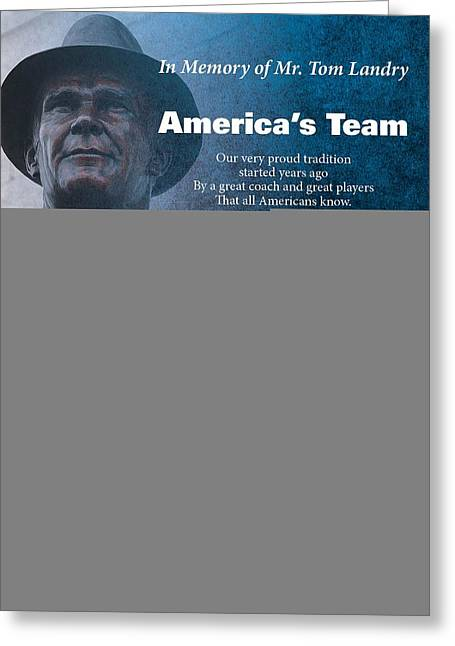 America's Team Poetry Art Greeting Card by Stanley Mathis
