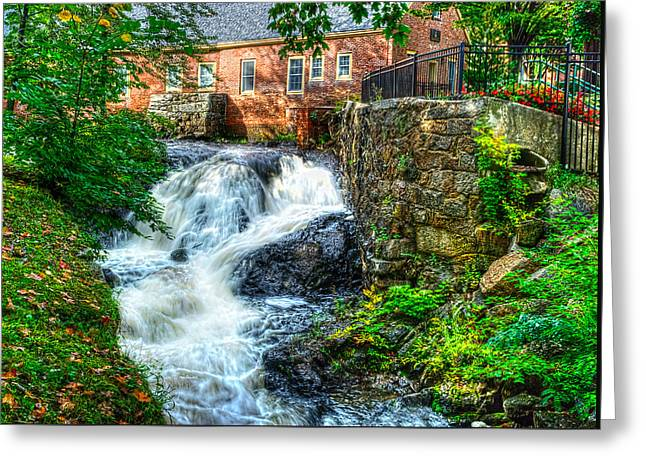 Amesbury Greeting Cards - Amesbury Waterfall Greeting Card by Rick Mosher