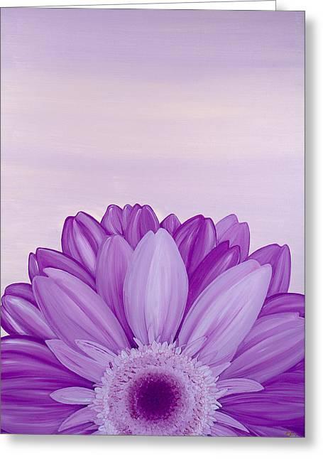 Affirm Paintings Greeting Cards - Amethyst Greeting Card by Bridget Dedyuhina-Rymell