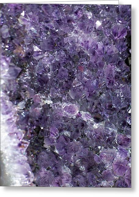 Birthstone Greeting Cards - Amethyst Geode II Greeting Card by Roger Reeves  and Terrie Heslop