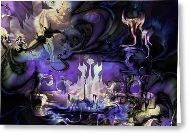 Amethyst Realm  Greeting Card by Kiki Art