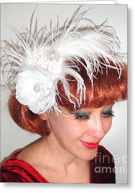 Cute Tapestries - Textiles Greeting Cards - Ameynra fashion bridal wedding accessory Greeting Card by Ameynra Fashion