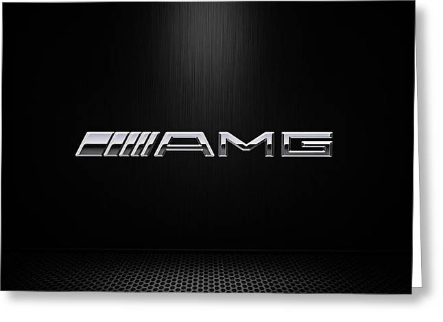 Logos Greeting Cards - AMG Center Stage Greeting Card by Douglas Pittman