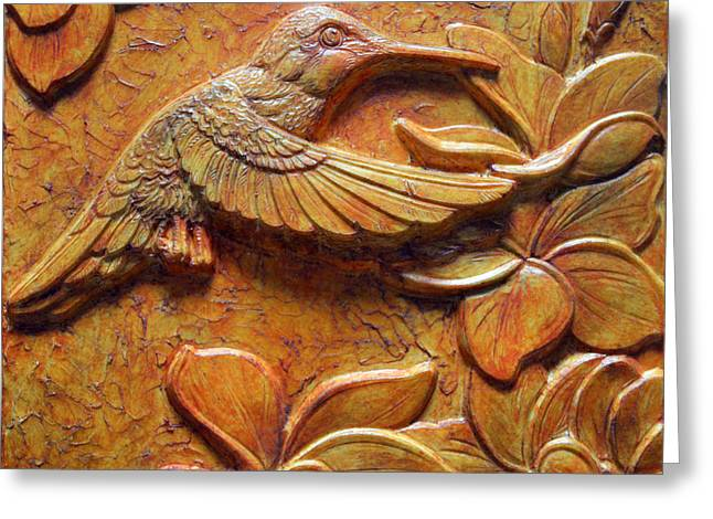 Blossoming Reliefs Greeting Cards - Amid the Plumeria Greeting Card by Jeremiah Welsh