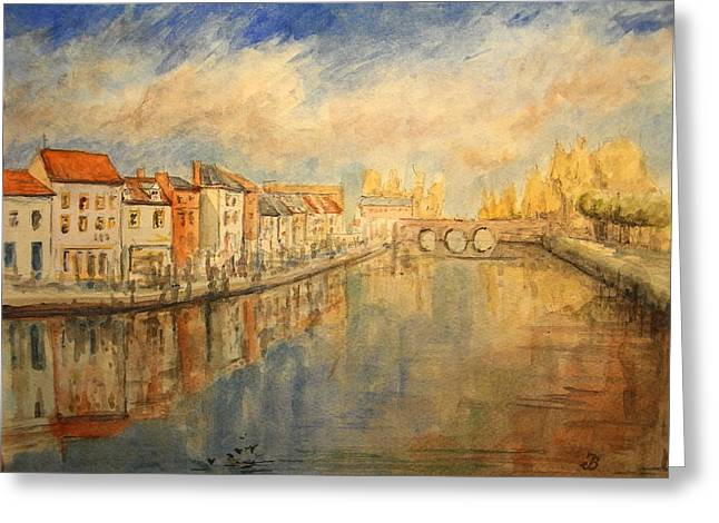 Amiens Greeting Cards - Amiens France Greeting Card by Juan  Bosco