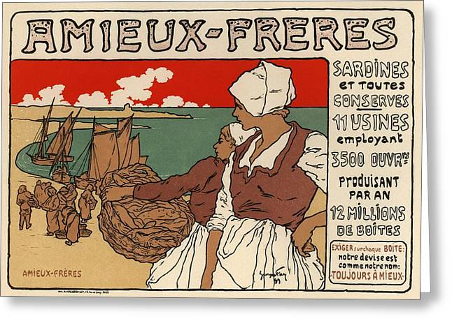 Belle Epoque Greeting Cards - Amieux Freres Greeting Card by Gianfranco Weiss