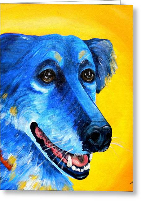 Lab Mix Greeting Cards - Amigo Greeting Card by Debi Starr