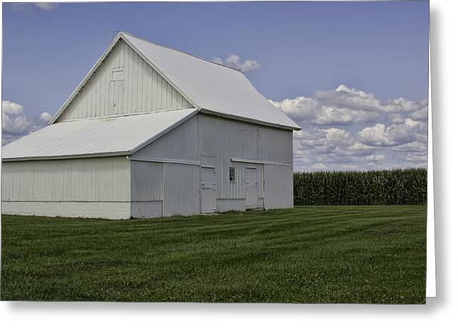 Counry Greeting Cards - Amish Barn Greeting Card by Susan Knodle