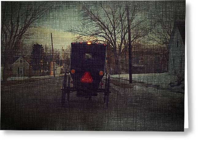 Amish Greeting Cards - Amish Buggy Daybreak Greeting Card by Michael L Kimble