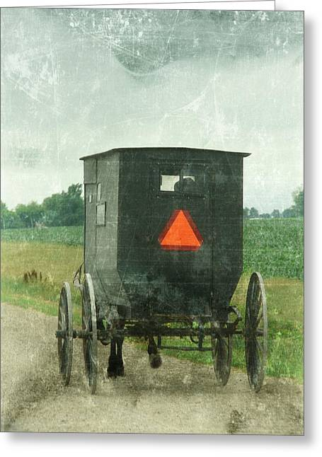 Digital Art Greeting Cards - Amish Greeting Card by Cassie Peters