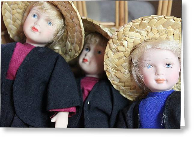 Amish Photographs Greeting Cards - Amish Dolls Greeting Card by Jewels Blake Hamrick