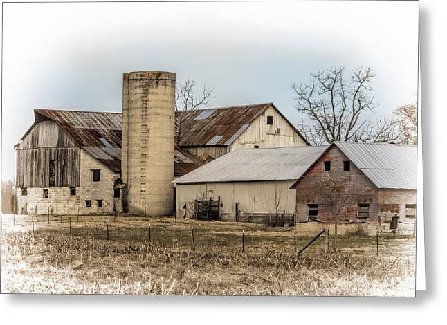Amish Farm In Etheridge Tennessee Usa Greeting Card by Kathy Clark