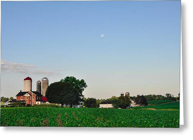 Amish Greeting Cards - Amish Farm - Lancaster County Greeting Card by Bill Cannon